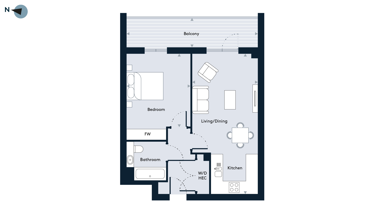 Walthamstow Gateway - Floorplan Apartment 25
