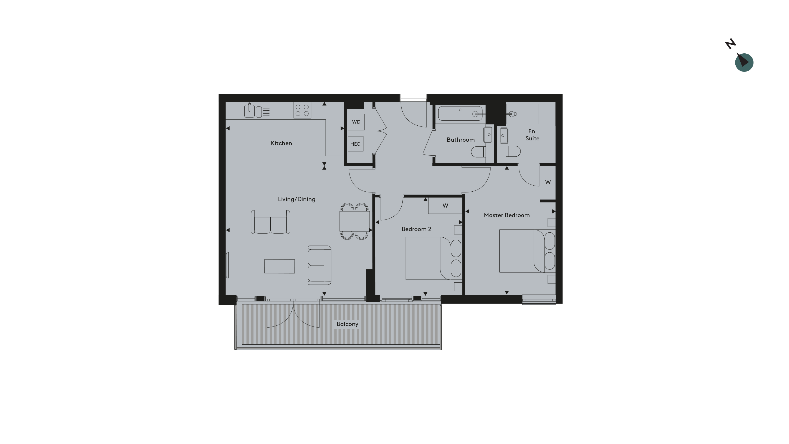 Twickenham Apartment 12 Floorplan