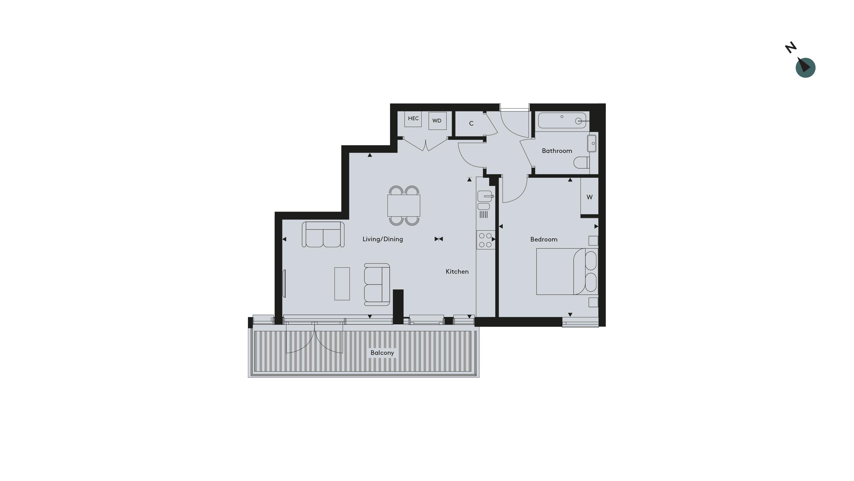 Twickenham Floorplan - Apartment 21