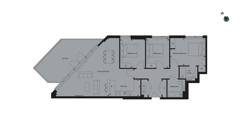 Twickenham Apartment 32 Floorplan