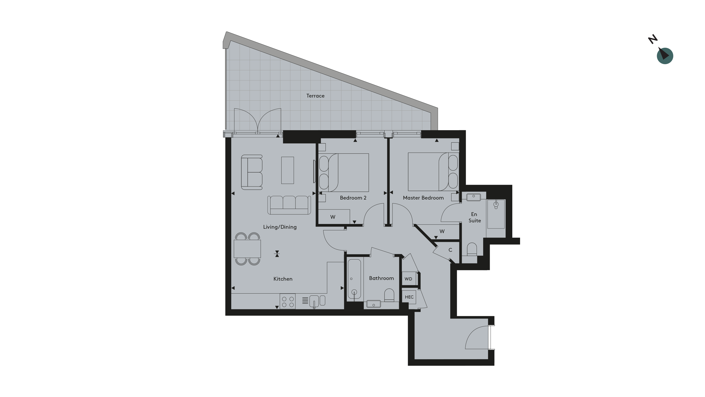 Twickenham Apartment 4 Floorplan