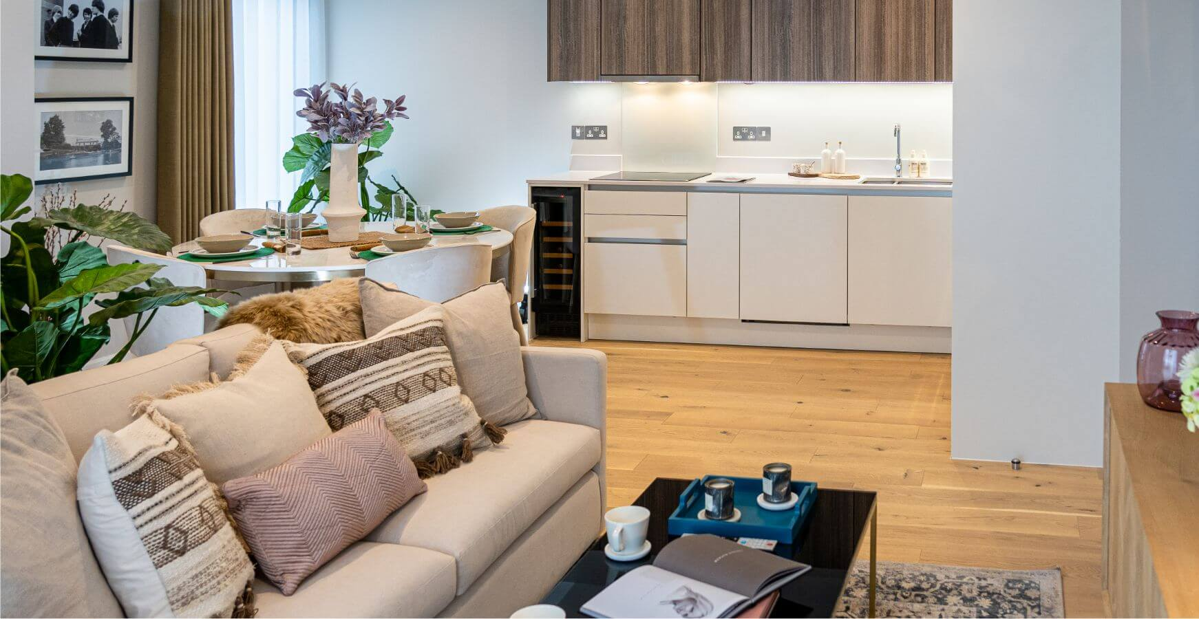 Twickenham Apartment 4 Living and Dining Space